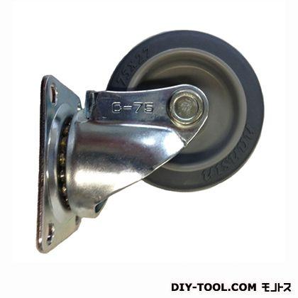 定番中軽量キャスター グレー車輪  高さ:93mm STC-75 TP
