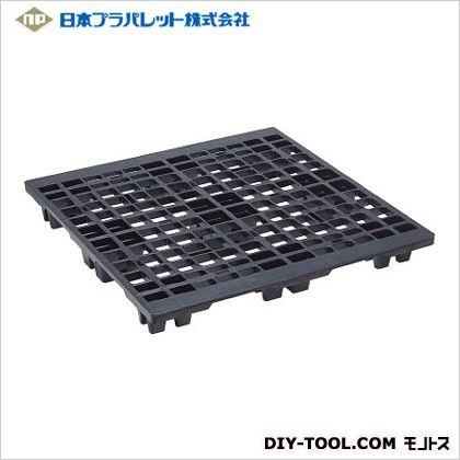 NPC 輸出梱包用プラスチックパレットEX1111 片面四方差し 黒  EX-1111-BK