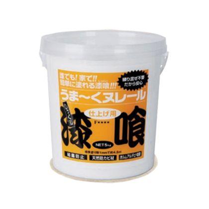 うま~くヌレール 仕上げ用 漆喰(塗り壁材料) クリーム色 5kg 12UN02