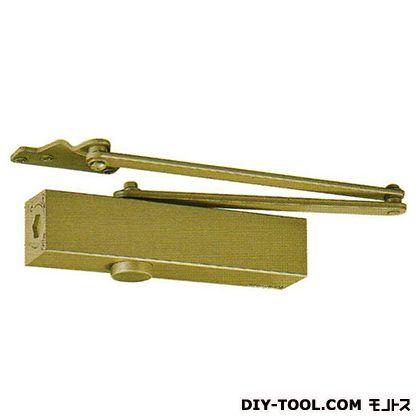 ドアクローザー パラレル ストップ付 N-48 段付ブラケット ゴールド (PS-7002A)