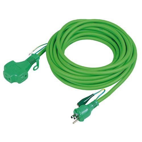 ポッキン延長コード15A・緑   PPT-10E 10M