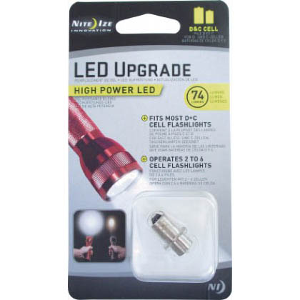 NITE IZE ハイパワー LED バルブ(C&D CELL) メタリックブラック 13.42mm×13.42mm×24.67mm NI03008  ヶ