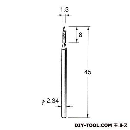 電着DIA砥石  先端径:1.3粒度:#150 D1313