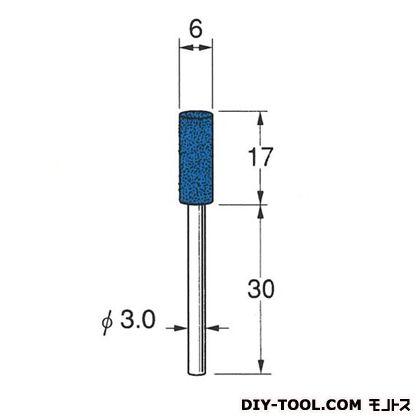 セラミックゴム砥石 ブラウン 先端径:6粒度:#500 R2126