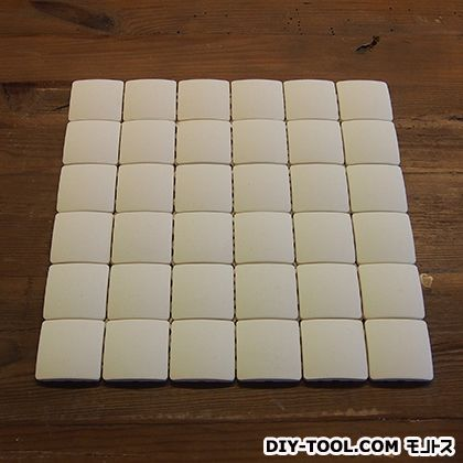 エッグタイルシート(卵の殻と土でできた軽量タイル)正方形プレーン6×6P  302mm×302mm 3591757005