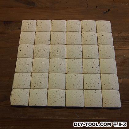 エッグタイルシート(卵の殻と土でできた軽量タイル) 正方形 うずら  6×6P (3591757006)