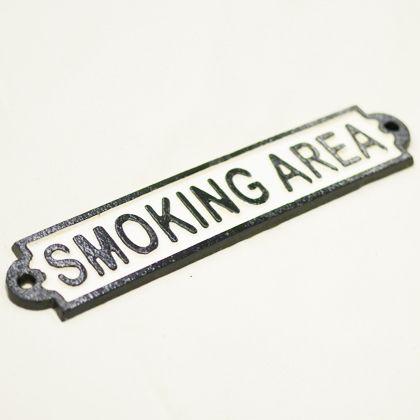 GONGRI アイアンサイン SMOKING AREA   DT-2428