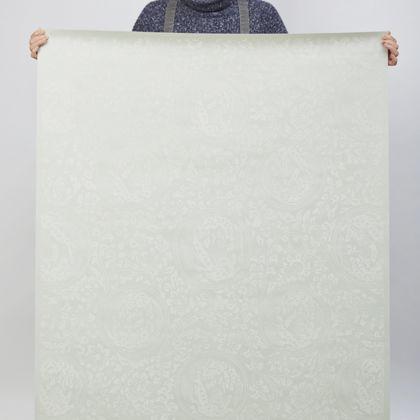 夏水組セレクション 獅子地紋 ふすま紙 錆浅葱(さびあさぎ) 紙全体サイズ200cm×97cm FS104 1 枚