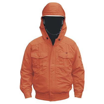 NB-101 空調服(S)チタンフード付セット  オレンジ M 554580433220597