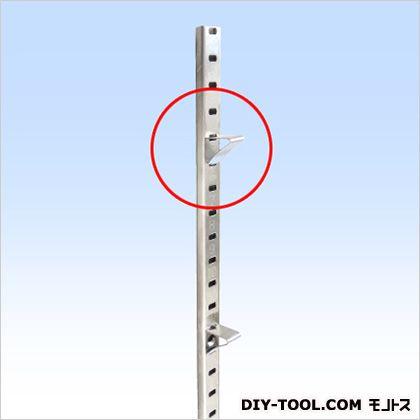 ステンレス棚柱用受け金具 P=17用 SUS304 シルバー ピッチ(mm):17用 (202199)