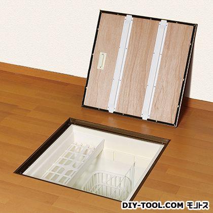 気密床下収納庫 深型 ブロンズ 外形寸法(mm):616×616×高さ463 間口寸法(mm):606×606 N6KEBJ