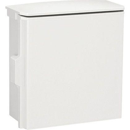 日東工業 プラボックス(屋根付)汎用タイプ() ホワイトグレー 長さ:25cm高さ:25cm幅:12cm OP12-2525A