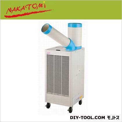 排熱ダクト付きスポットクーラー 自動首振り  本体mm:W400xD430xH820 冷風ダクトmm:内径Φ114、外径Φ120 排熱ダクトmm:内径Φ175、外径Φ184 N407-TC