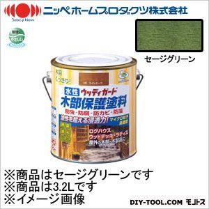 水性ウッディガード セージグリーン 3.2L 12