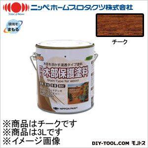 ニッペホーム 水性木部保護塗料 チーク 3L 08