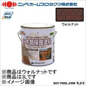 水性木部保護塗料 ウォルナット 3L 09