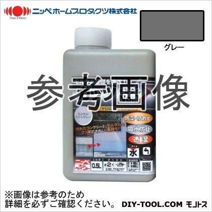 ガッツモルタルNO.1水性フッ素系着色吸水防止剤 グレー 0.5kg