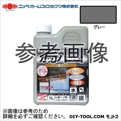 ガッツモルタルNO.1 水性フッ素系 着色吸水防止剤 グレー 1kg
