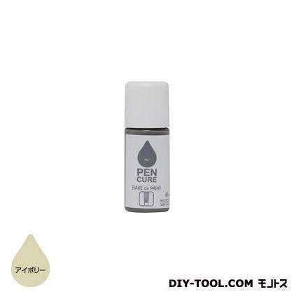 ペンキュア HAKE de PAINT セミグロス 水性半つや塗料 アイボリー 50ml