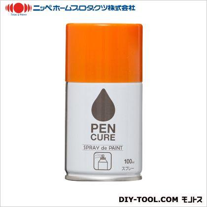 ペンキュア SPRAY de PAINT 水性スプレー塗料 キャロットオレンジ 100ml