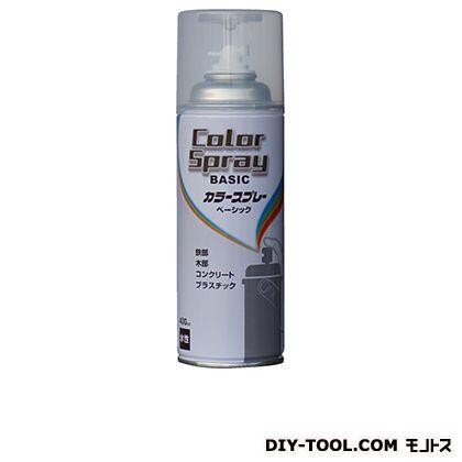 カラースプレーベーシック(水性スプレー塗料) トウメイクリヤー 400ML