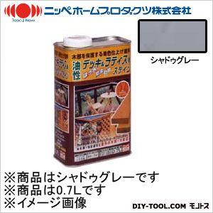 ニッペホーム 油性デッキ&ラティス用(アルキド樹脂塗料) シャドゥグレー 0.7L 08
