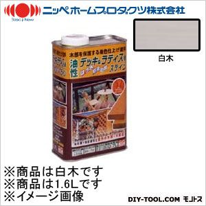 ニッペホーム 油性デッキ&ラティス用(アルキド樹脂塗料) 白木(やや白色) 1.6L 07