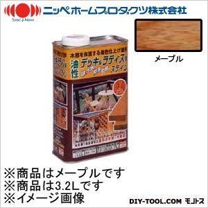ニッペホーム 油性デッキ&ラティス用(アルキド樹脂塗料) メープル 3.2L 01