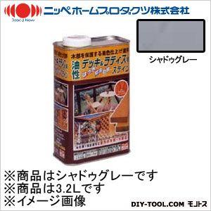 ニッペホーム 油性デッキ&ラティス用(アルキド樹脂塗料) シャドゥグレー 3.2L 08