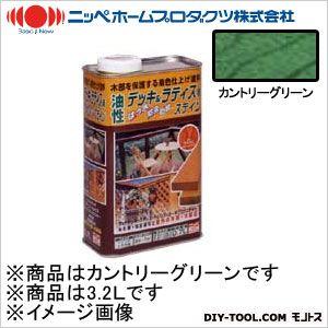 ニッペホーム 油性デッキ&ラティス用(アルキド樹脂塗料) カントリーグリーン 3.2L 09