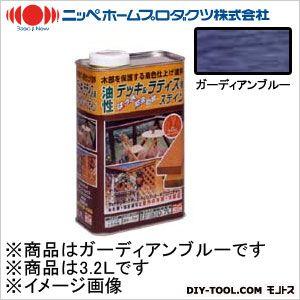 ニッペホーム 油性デッキ&ラティス用(アルキド樹脂塗料) ガーディアンブルー 3.2L 10