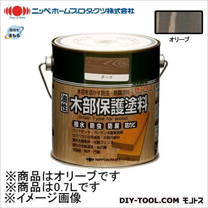 ニッペホーム 油性木部保護塗料 オリーブ 0.7L