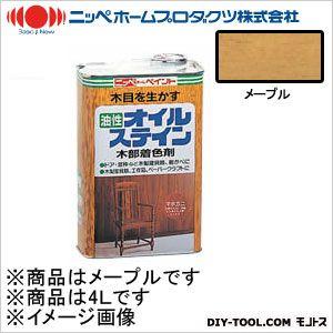 オイルステイン(油性合成樹脂塗料) メープル 4L