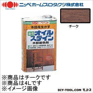 オイルステイン(油性合成樹脂塗料) チーク 4L
