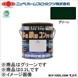 ニッペホーム 水性エコエバー グリーン 0.2L 35