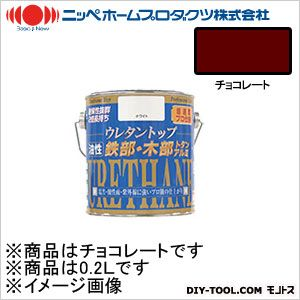 ニッペホーム 油性ウレタントップ チョコレート 0.2L 15