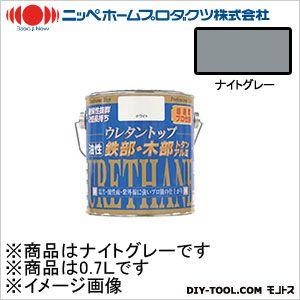 ニッペホーム 油性ウレタントップ ナイトグレー 0.7L 08