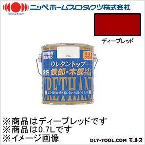 ニッペホーム 油性ウレタントップ ディープレッド 0.7L 12