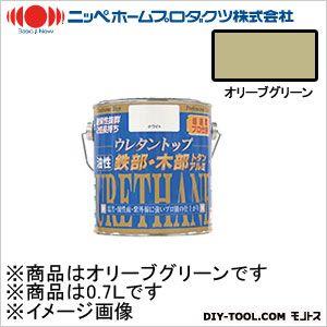 ニッペホーム 油性ウレタントップ オリーブグリーン 0.7L 22