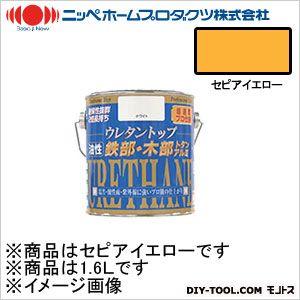 ニッペホーム 油性ウレタントップ セピアイエロー 1.6L 17