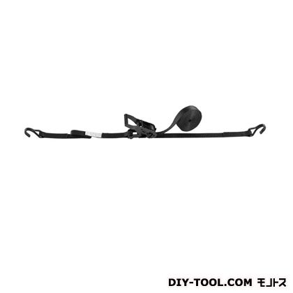 OH ラッシングベルト ブラック 幅×高さ:25×1.8mm LBR100WBK E45