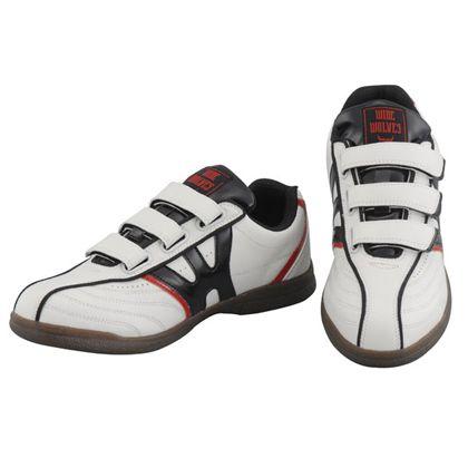 安全靴 WIDE WOLVES ターンベントベルクロ(マジック)タイプ ホワイト 25.5cm (WW-131M)