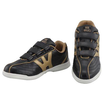 安全靴 WIDE WOLVES ターンベントベルクロ(マジック)タイプ ブラック 23.5cm (WW-132M)