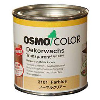 オスモカラー ウッドワックス 3分艶 透明 0.375L 3101