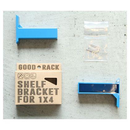 グッドラック 1×4材用棚受け ブルー  52-334