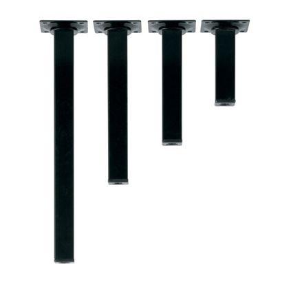 スマートレグ角脚 ブラック 長さ:50mm 70-671 4 本入