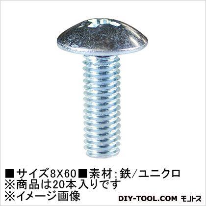 ユニクロ 小ねじ トラス頭 8×60  (61-269) 20本