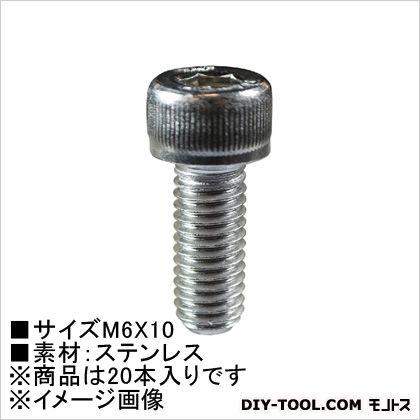 六角穴付ボルト(ステン) M6×10 (62224) 20本