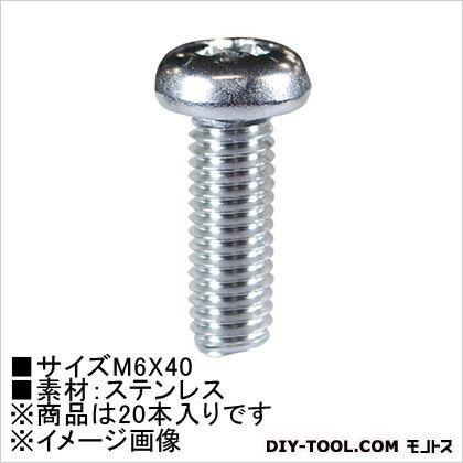 小ねじなべ頭(ステン) M6×40  (62512) 20本