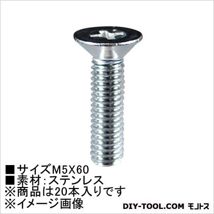 小ねじ皿頭(ステン) M5×60  (62575) 20本